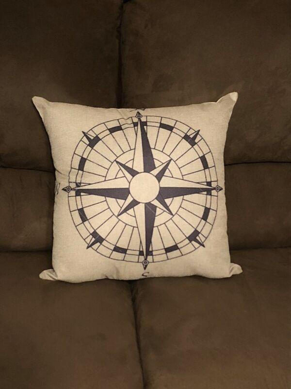 Handmade Compass Pillow