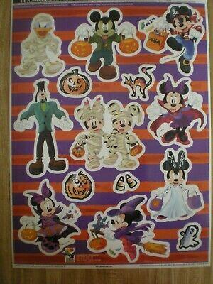 14 Halloween Mickey Mouse Static Window Clings NEW Minnie, Goofy, Donald, DISNEY