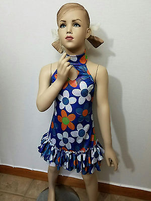 Welcome to The Sixties Dance Costume Flower Hippi Dress Tap Clearance Child Size](Clearance Flower Girl Dresses)