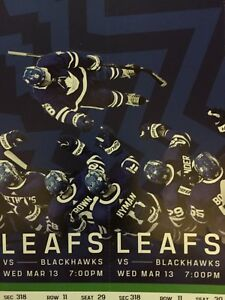 Toronto Maple Leafs vs. Chicago Black Hawks- Wed. March 13