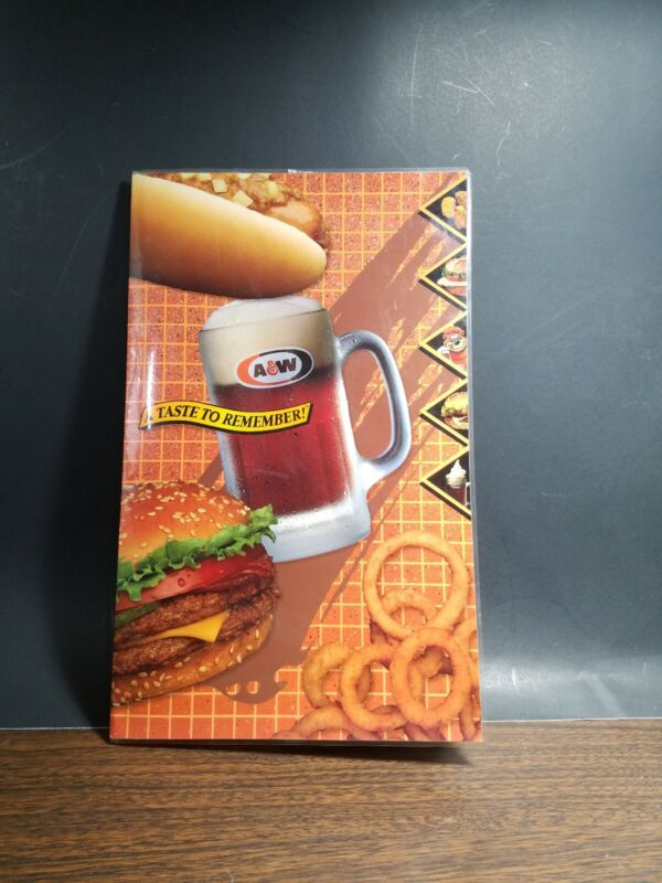 A&W root beer collectibles menu 1994?
