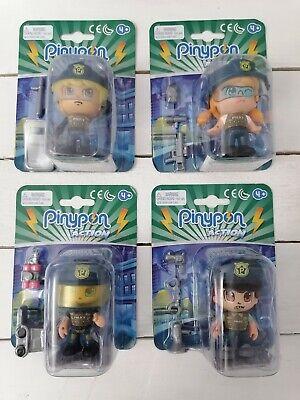 4 Muñecos de Pinypon Action policías con accesorios Police action