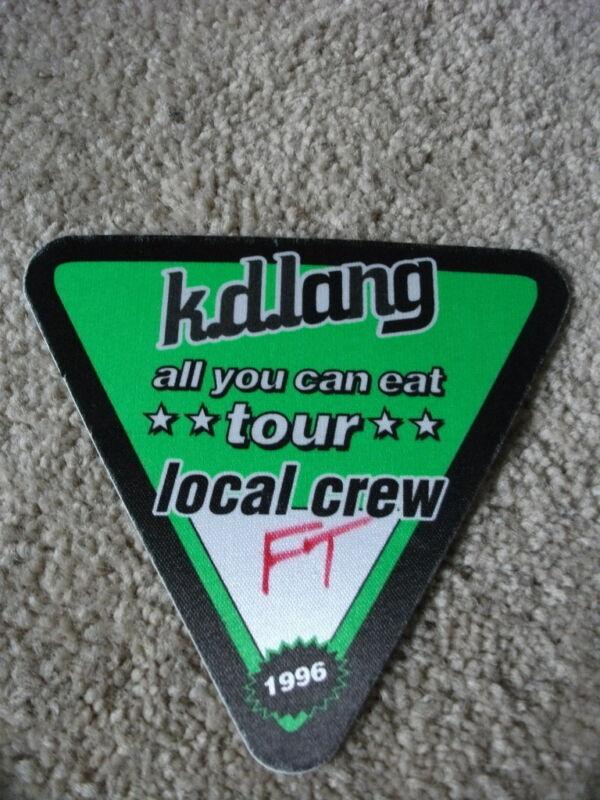 k.d. lang All You Can Eat Local Crew 96  Tour Concert Pass Peel & Stick