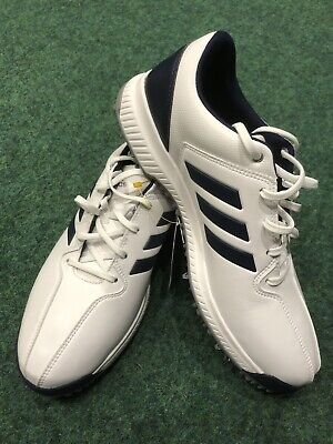 Adidas CP Traxion Waterproof Golf Shoes White/ Blue Various Sizes Wide