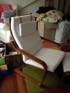 ArmChair & Footstool - IKEA poang Erskineville Inner Sydney Preview