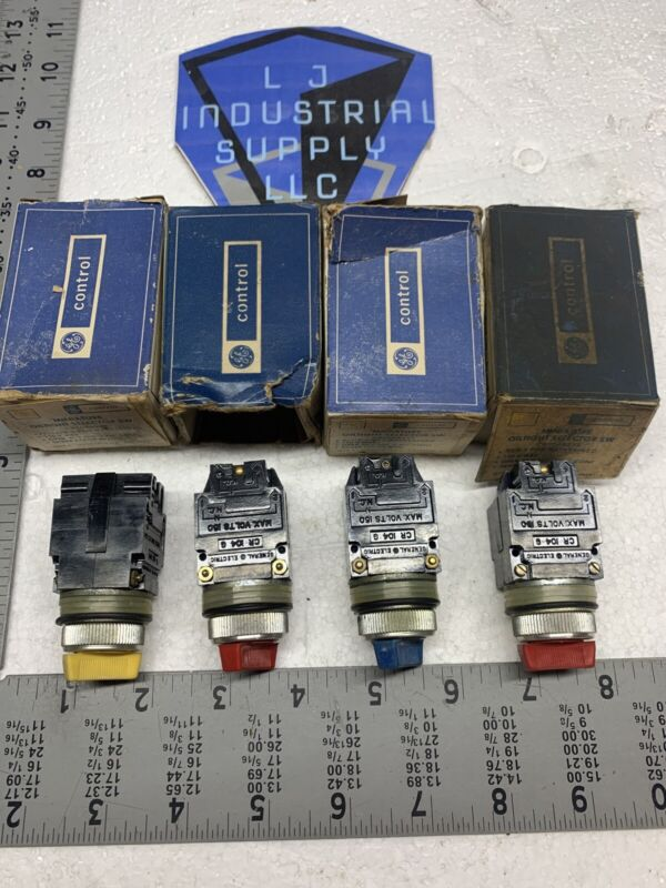 NEW [LOT OF 4!] GE CR104B Mini Oiltight 3-Pos. Selector Switches FAST SHIPPING!
