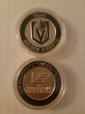 Veterans Day Flag (VEGAS GOLDEN KNIGHTS LIMITED EDITION FOLDED FLAG COIN VETERANS DAY)