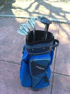RH Golf clubs with Cobra golf bag