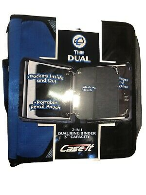 Caseit The Dual 2 In 1 Dual Ring Binder 3 Capacity Lots Of Capacity Inside New