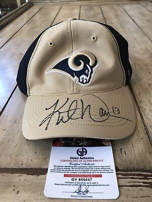 Kurt Warner Autographed/Signed Hat COA St. Louis Rams LA Los Angeles