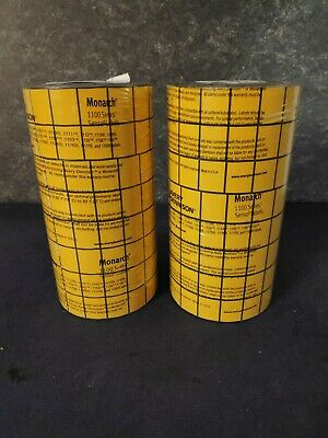 Lot Of 2 - Avery Monarch 1136 Yellow Black Labels Plus 1138 Ink Roller