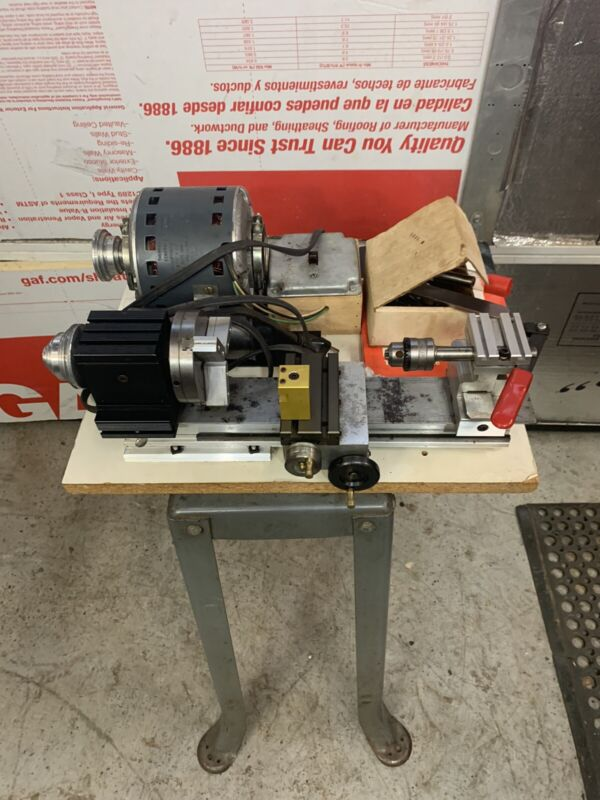 TAIG SHERLINE JELEWRY LATHE w/ Base, Book & Tooling RUNS FLAWLESSLY