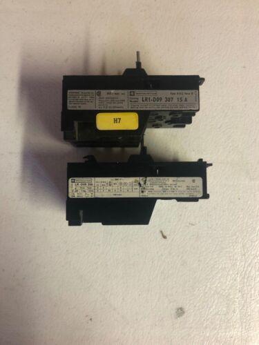 Lot of 2 - Telemechanique LR1-D09 307 / 306 Overload Relays