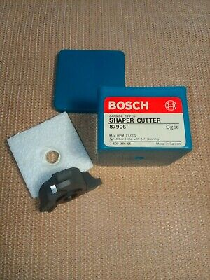 Bosch Carbide Tipped Shaper Cutter 87906 New In Box 34 Arbor W 12 Bushing