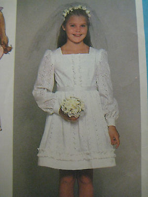 Vintage 1978 Simplicity FIRST HOLY COMMUNION DRESS Sewing Pattern Girl Child](Holy Communion Dress Patterns)