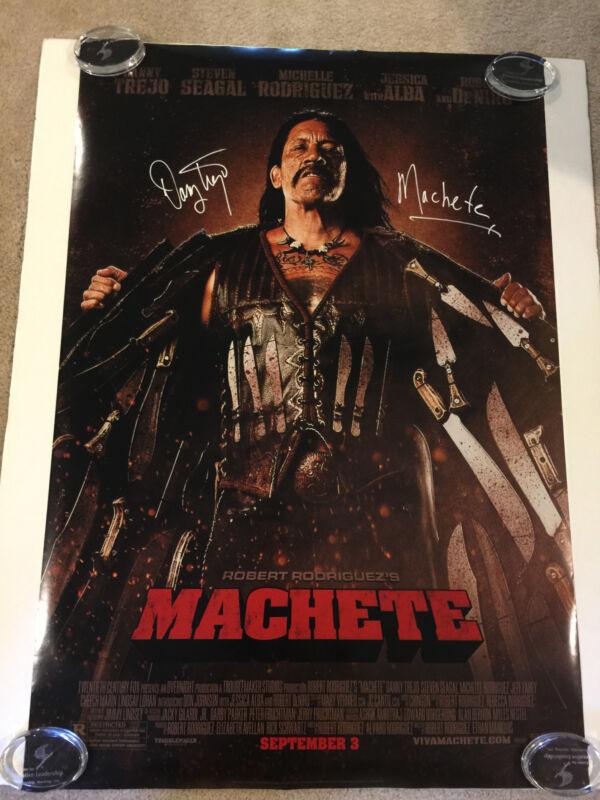Machete Danny Trejo Signed Autograph One Sheet Movie Poster JSA LOA