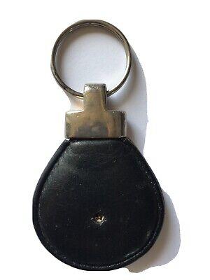 versace Black Leather Keyring Vintage