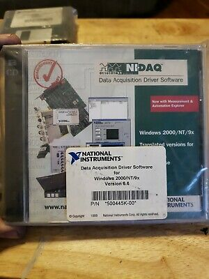 4a3 National Instruments Data Acquisition Driver Software 500445k-00 Ni-daq
