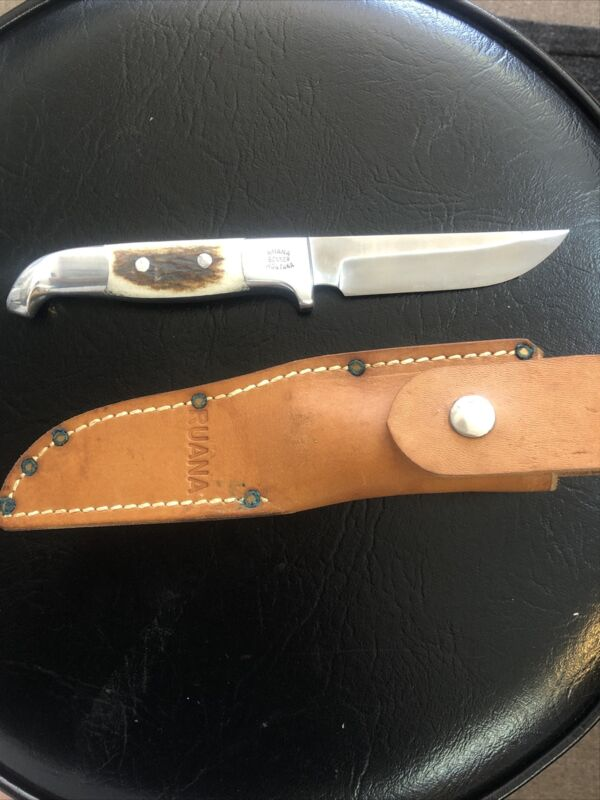 Custom Handmade R.H. RUANA KNIFE!  Stag Hunting Skinner Knife. Very pretty knife