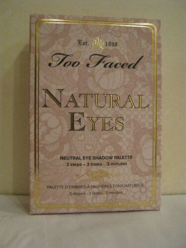 Too Faced Natural Eyes ~ Neutral Eye Shadow Palette - 3 Steps / Looks / Minutes