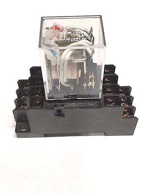 Relay My4n-j My4n My4 110v 115v 120v 110vac 120vac Coil With Socket Base Pyf14a