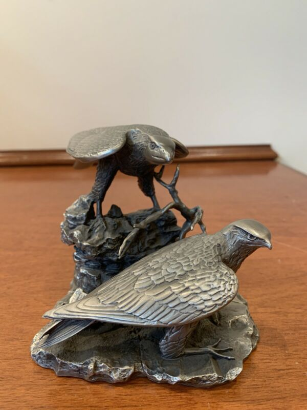 Gilroy Roberts Peregrine Falcons Statue Figurine