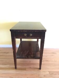 mersman mid century modern wooden end table - Antique End Tables Value