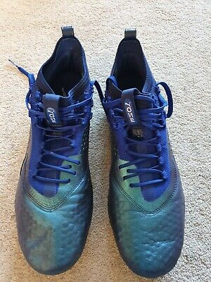 Puma one 1 Football Boots Leather Size 9.5 UK FG AG