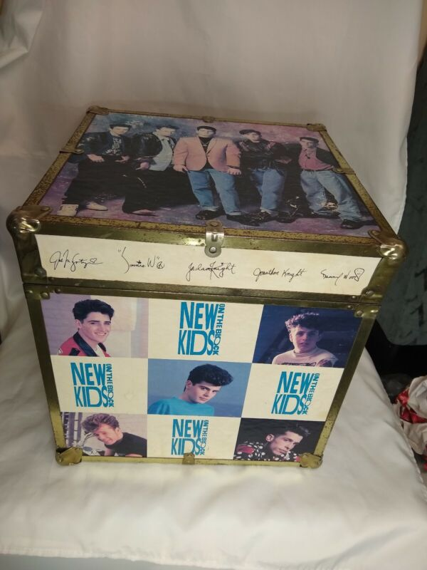 1990 New Kids On The Block Vintage 90s  Dual Latch Trunk Chest Storage Box