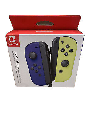 Genuine Joy-Con (L/R) Wireless Controllers for Nintendo Switch - Blue/ Yellow