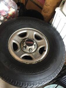 GMC 6bolt rims with TOYO OPEN COUNTRY WINTER TIRES