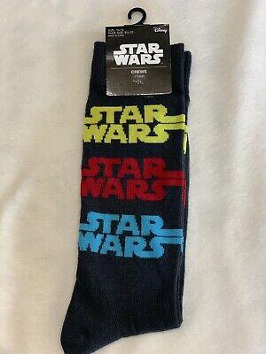 New Star Wars Disney Men's Dress Casual Novelty Crew Socks Jedi Space