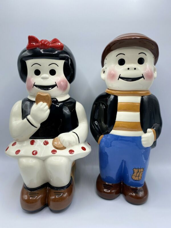 Nancy & Sluggo Ltd Ed Original Cookie Jars Pottery JD USA 131-108 Of 250 Made