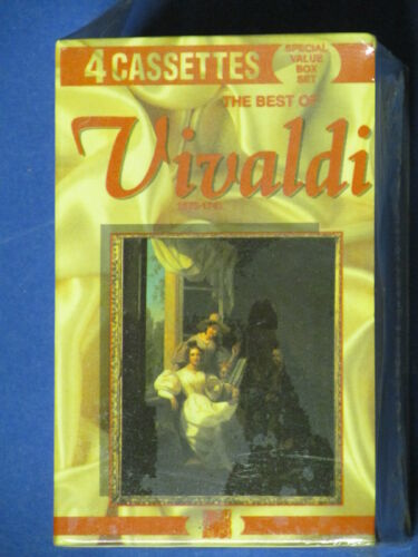 The Best Of Vivaldi Set Of 4 Cassettes New Sealed
