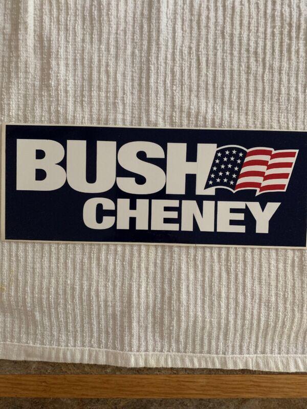 2000 BUSH CHENEY Bumper Sticker Original Republican MINT