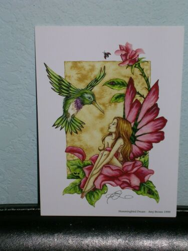 Amy Brown - Hummingbird Dream - Mini Print
