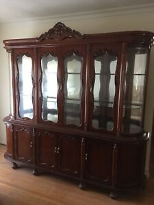 Solid Carved Cherry Dining Set