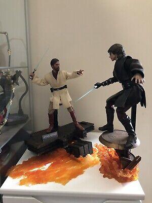hot toys Style Mustafar Fight Scene Base. Anakin Vs Obi Wan Scene Star Wars