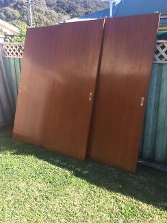 Timber wardrobe sliding doors Koolewong Gosford Area Preview