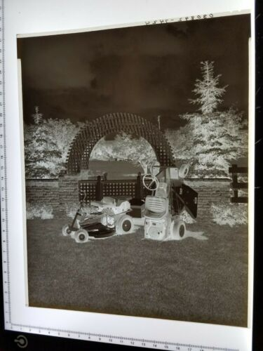 ACAAM Allis-Chalmers 8 x 10 NEGATIVE, MEDIA PROMOTION ARCHIVE 402 RIDING MOWER