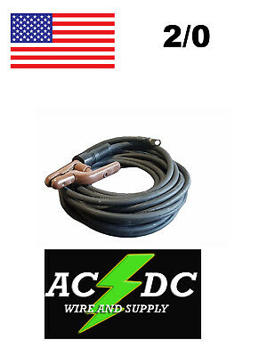 50 Ft 20 Welding Cable Lead With Stinger Lug Black