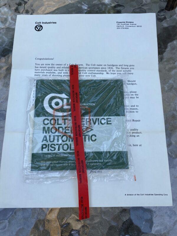 FACTORY ORIGINAL 1978 Colt Service Model ACE Manual
