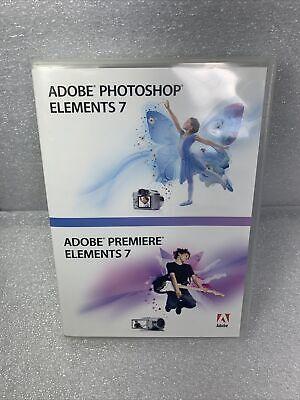 ADOBE PHOTOSHOP ELEMENTS 7 & PREMIERE ELEMENTS 7 (Software, 2008) 2 DISC SET