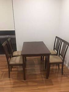 Dining Table with 4 chairs Asquith Hornsby Area Preview