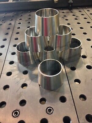3 X 2.5 16ga Concentric Reducer 304 Stainless Polished Sanitary Fitting