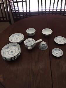 Bone china tea and serving plates