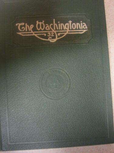 College Yearbook Washington State Normal School  Maine Washingtonia 1932