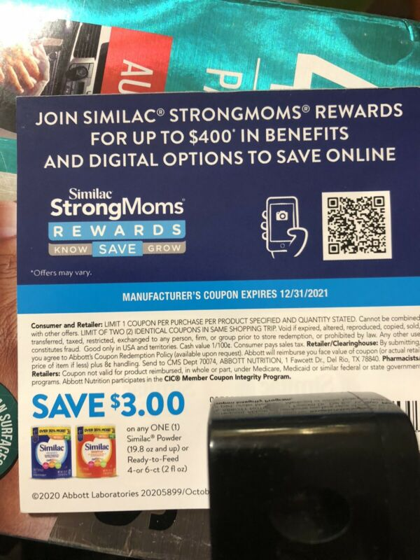 Similac Formula coupons $69 Worth