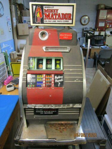 Sega Money Matador Berkeley Jackpot Penny Antique Slot Machine Mills