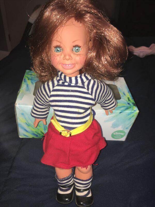 "RARE Vintage 12"" Vinyl 1965 Red Hair Freckles Doll ItaloCremona Girl 800 Italy"